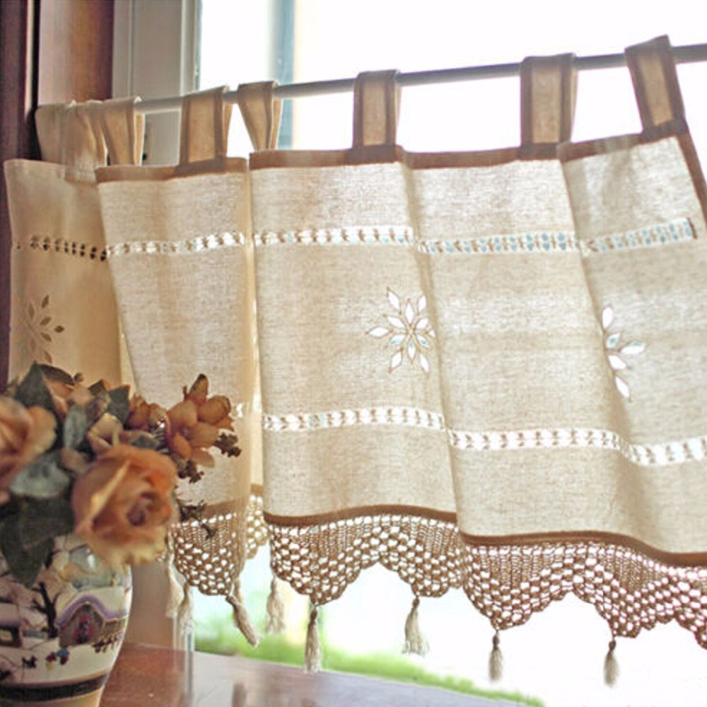 Provincial delight with handmade curtains